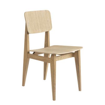 Mobilier - Chaises, fauteuils de salle à manger - Chaise C-Chair / Contreplaqué - Réédition 1947 - Gubi - Chêne - Chêne massif, Contreplaqué de chêne