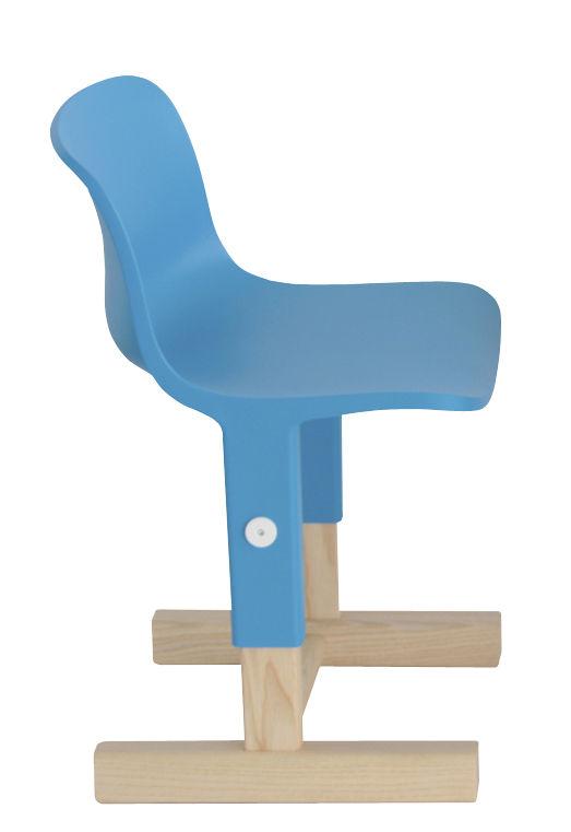 Mobilier - Mobilier Kids - Chaise enfant Little big / Hauteur réglable - Magis Collection Me Too - Bleu clair / Bois - Frêne massif, Polypropylène