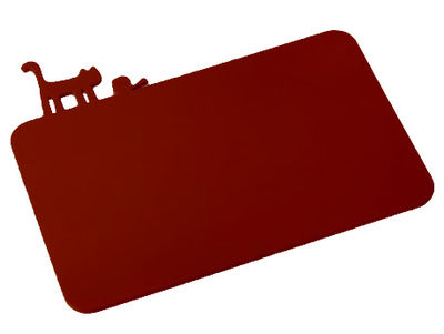 Kitchenware - Kitchen Equipment - PI:P Chopping board by Koziol - Raspberry red - Plastic material