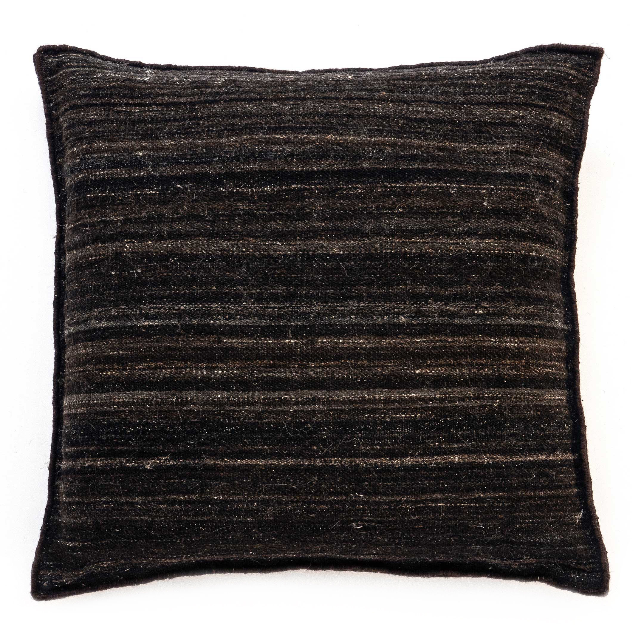 Decoration - Cushions & Poufs - Well Being Heavy Cushion - / 80 x 80 cm - Eco-designed by Nanimarquina - Kilim / Black - Afghan wool, Cork, Cotton