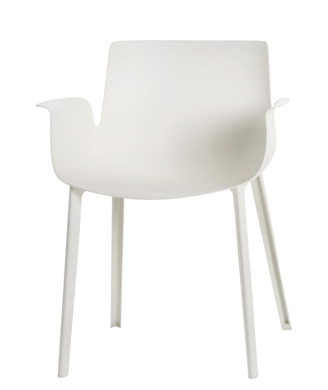 Mobilier - Chaises, fauteuils de salle à manger - Fauteuil Piuma / Plastique - Kartell - Blanc - Thermoplastique polymère renforcé