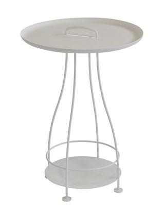 Guéridon Happy Hour / Ø 44 x H 64 cm - Plateau amovible - Fermob blanc coton en métal