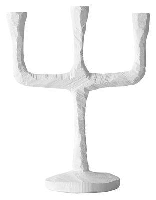 Dekoration - Kerzen, Kerzenleuchter und Windlichter - Raw Kerzenleuchter - Muuto - Weiß - bemaltes Holz