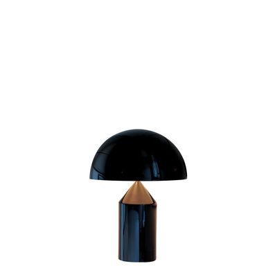Lampe à poser Atollo Small Métal / H 35 cm / Vico Magistretti, 1977 - O luce noir en métal