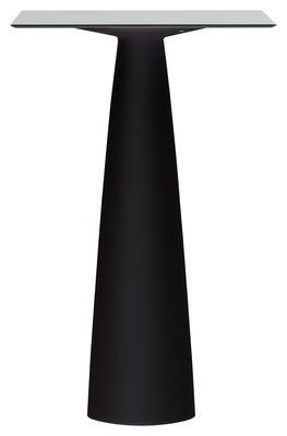 Mobilier - Mange-debout et bars - Mange-debout Hoplà - H 110 cm / 69 x 69 cm - Slide - 69 x 69 cm / Blanc & pied noir - HPL stratifié, Polyéthylène