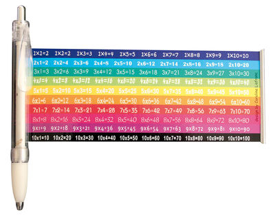 Decoration - Office - Tables de multiplication Pen by Caroline Lisfranc - White / Multicoloured - Plastic