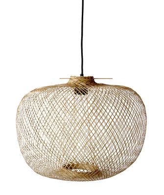 Lighting - Pendant Lighting - Bamboo Pendant - / Ø 42 x H 30 cm by Bloomingville - Natural - Bamboo