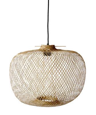 Leuchten - Pendelleuchten - Bamboo Pendelleuchte / Ø 42 cm x H 30 cm - Bloomingville - Naturfarben - Bambus