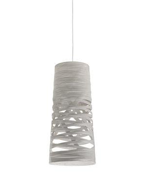 Leuchten - Pendelleuchten - Tress Mini Pendelleuchte Ø 20 cm x H 43 cm - Foscarini - Weiß - Glasfaser, Verbund-Werkstoffe