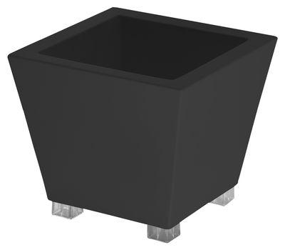 Pot de fleurs Kabin / 45 x 45 x H 40 cm - Serralunga noir en matière plastique