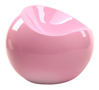 Furniture - Teen furniture - Ball Chair Pouf - / Glossy version - Exclusivity by XL Boom - Pastel pink - Recycled lacquered ABS