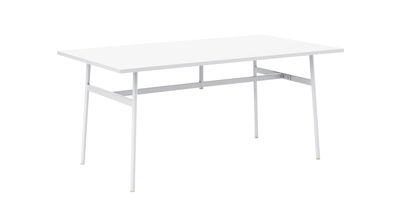 Arredamento - Mobili da ufficio - Scrivania Union - / 160 x 90 cm - Laminato Fenix di Normann Copenhagen - Bianco - Acciaio, Laminato stratificato Fenix