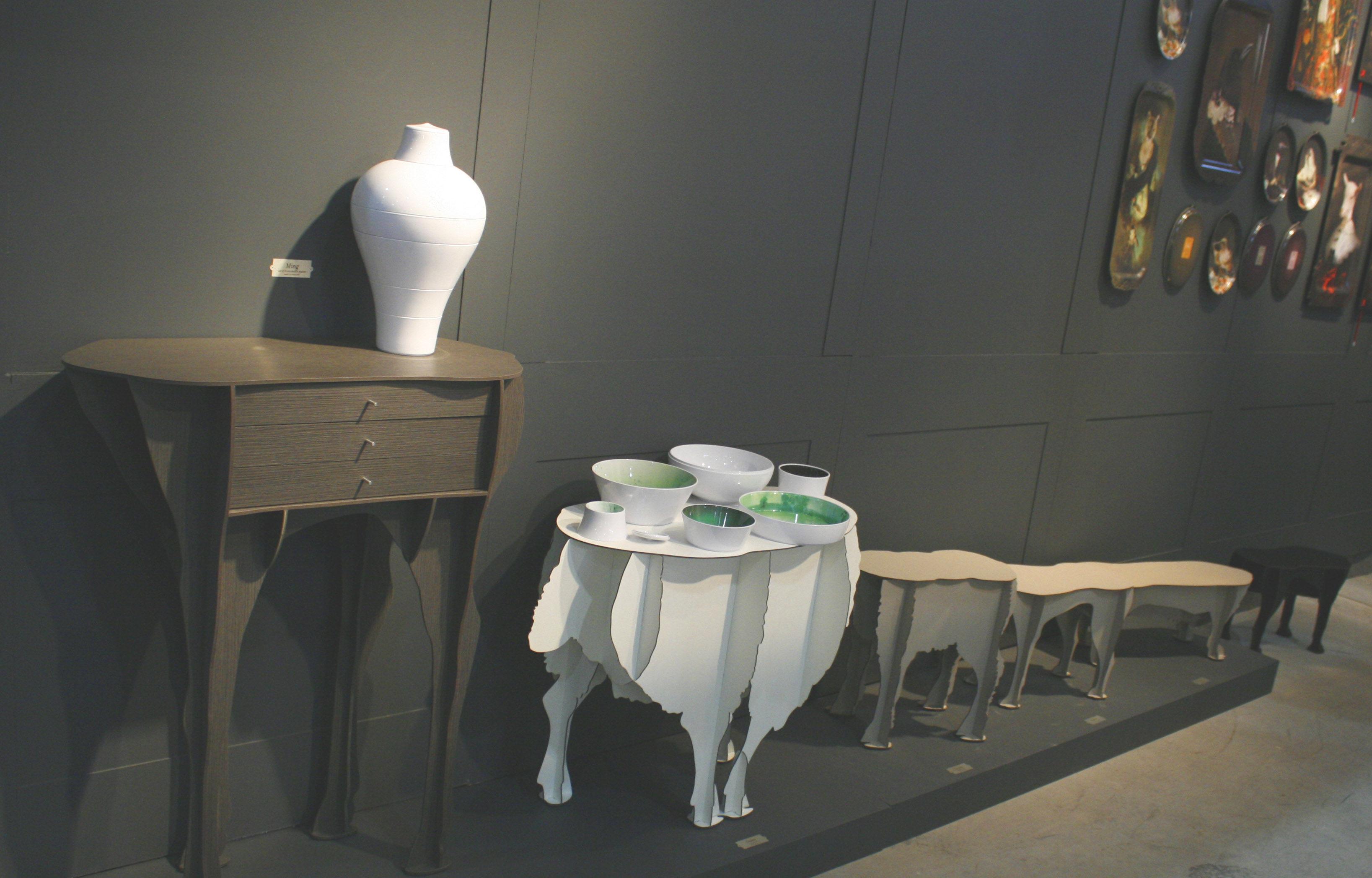 service de table ming 6 pi ces empilables blanc ibride made in design. Black Bedroom Furniture Sets. Home Design Ideas