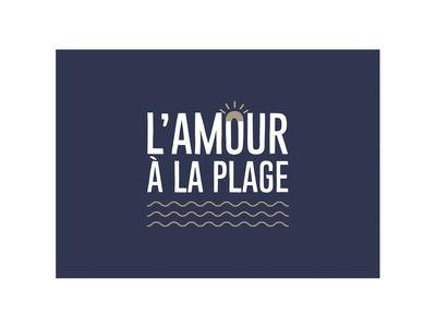 Set de table Amour / 35 x 49 cm- Vinyle - PÔDEVACHE bleu marine en matière plastique