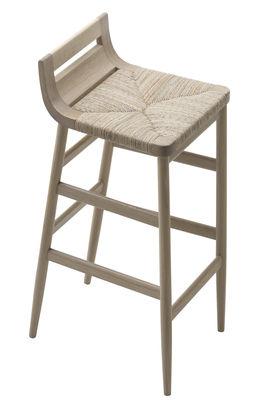 Arredamento - Sgabelli da bar  - Sgabello bar Kimua - seduta impagliata di Alki - Quercia naturale - Rovere massello