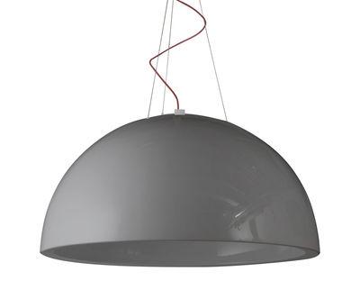 Sospensione Cupole - versione laccata - Ø 80 cm di Slide - Laccato grigio - Materiale plastico
