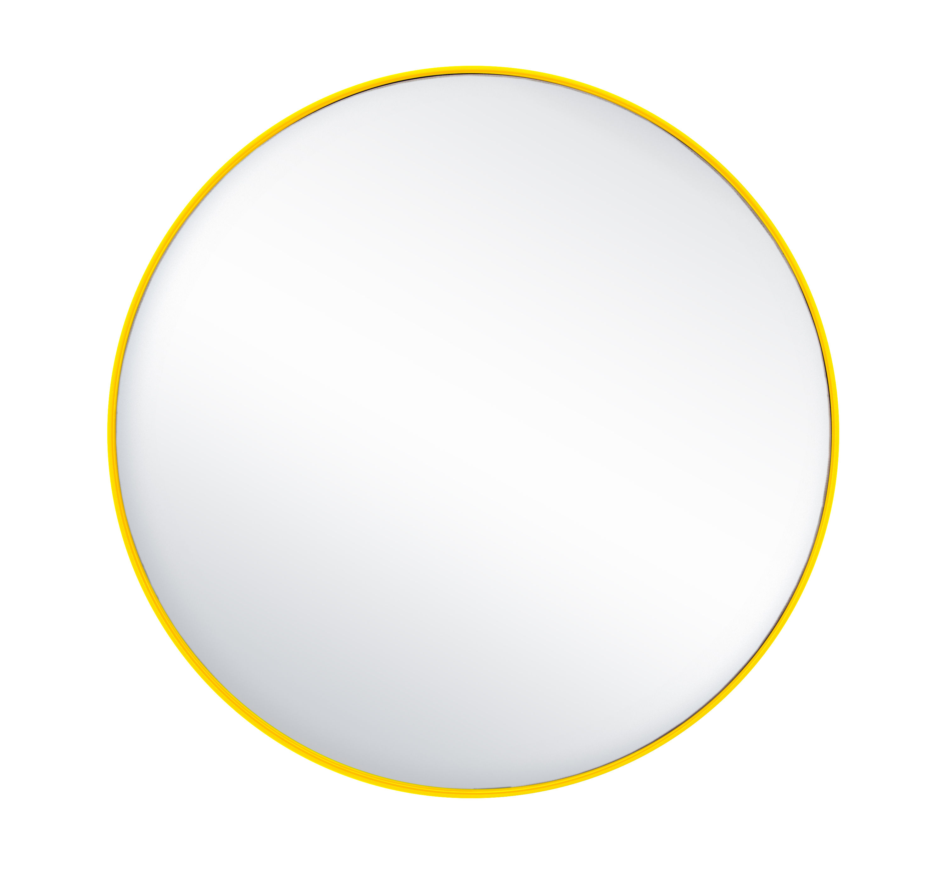 Interni - Specchi - Specchio G16 / Ø 44,8 cm - Acciaio - Tolix - Limone - Acciaio riciclato laccato, Vetro lucidato
