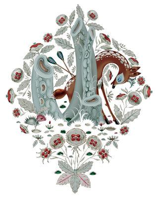 Déco - Stickers, papiers peints & posters - Sticker Deer - Domestic - Multicolore - Vinyle