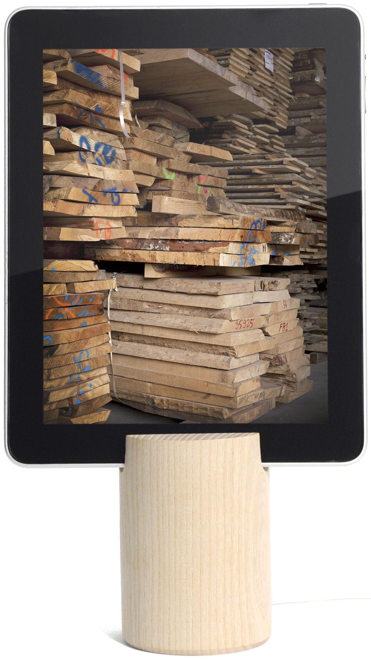 Accessoires - Objets connectés, accessoires high tech - Support pour tablette Base - Y'a pas le feu au lac - Bois clair - Frêne