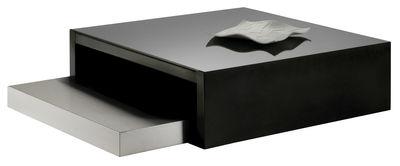 Mobilier - Tables basses - Tables gigognes Max & Moritz / Verre & acier - Zeus - 100 x 100 cm / Verre noir & inox - Acier satiné, Verre