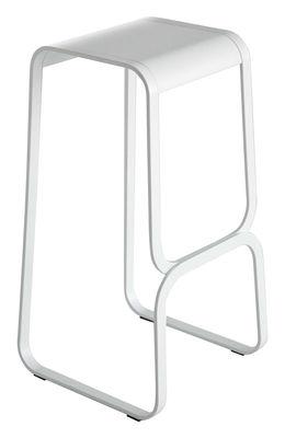 Tabouret de bar Continuum / Bois & métal - H 80 cm - Lapalma blanc en bois