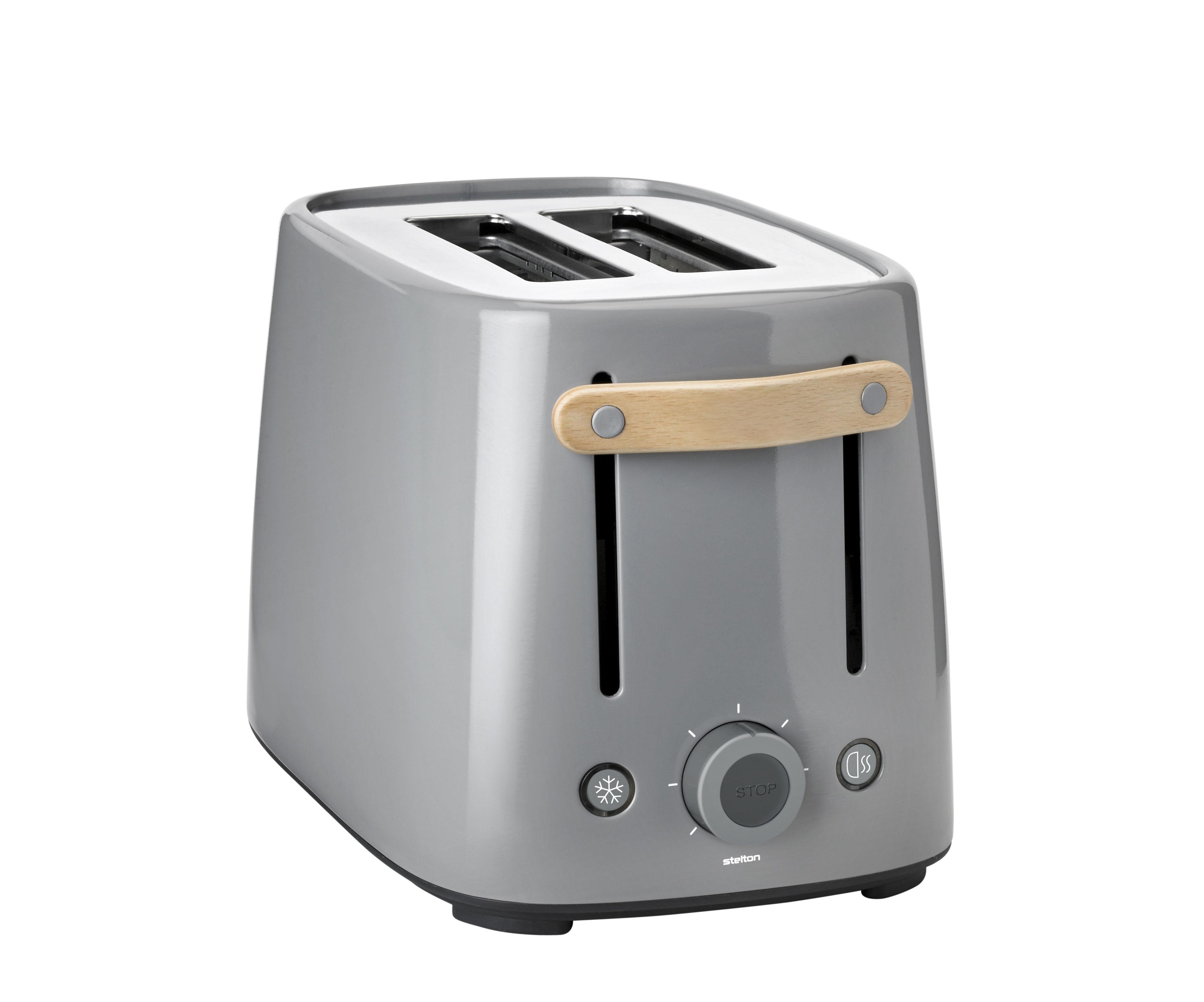 Cucina - Elettrodomestici - Tostapane Emma - / 2 fette di Stelton - Grigio - Acciaio verniciato, Faggio, Plastica