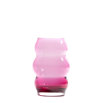 Decoration - Vases - Muse Small Vase - / Bohemia crystal - Ø 8 x H 13 cm by Fundamental Berlin - Ruby - Bohemia crystal