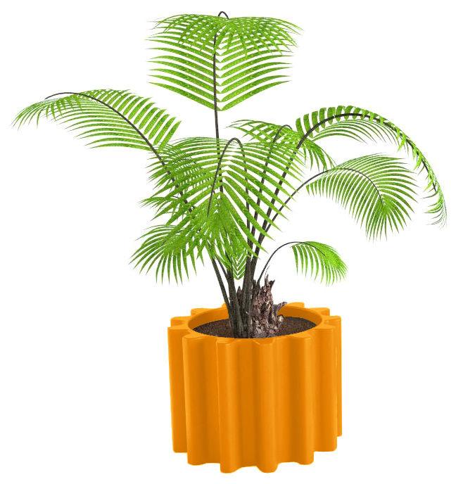 Outdoor - Vasi e Piante - Vaso per fiori Gear di Slide - Arancione - polietilene riciclabile