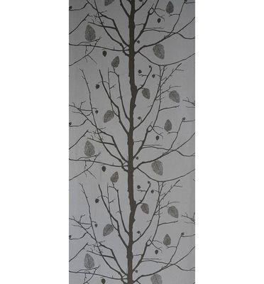 Family Tree Wallpaper 1 Panel Silver Dark Grey By Ferm Living