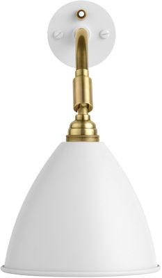 Luminaire - Appliques - Applique avec prise Bestlite BL7 /Réédition de 1930 - Gubi - Blanc / Structure laiton - Laiton, Métal thermolaqué, Textile