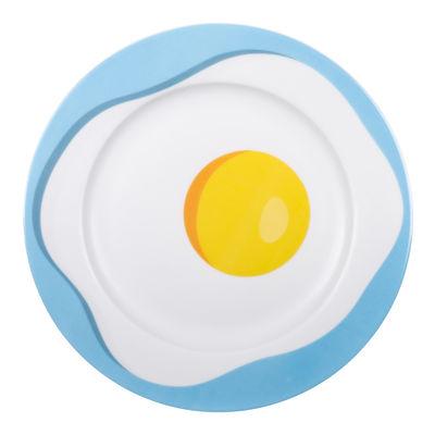 Assiette Œuf / Porcelaine - Ø 27 cm - Seletti multicolore en céramique