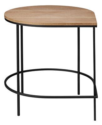 Stilla Beistelltisch / Tischplatte Eiche - H 50 cm - AYTM - Schwarz,Eiche natur