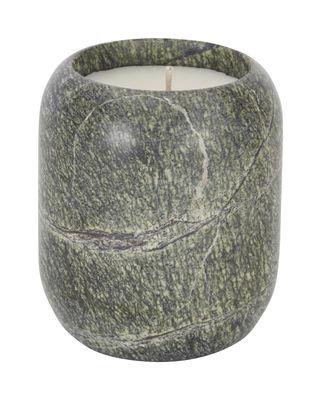Bougie parfumée Stone Medium / Marbre - H 10 cm - Tom Dixon vert en pierre
