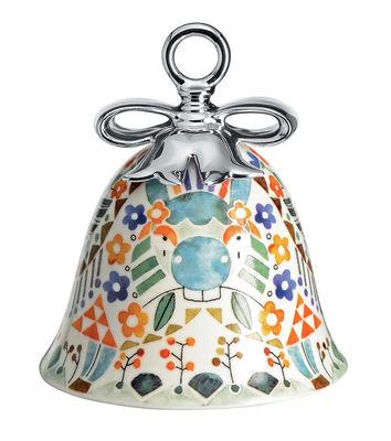 Boule de Noël Holy Family / Cloche L´Ane - Porcelaine peinte main - Alessi multicolore en céramique