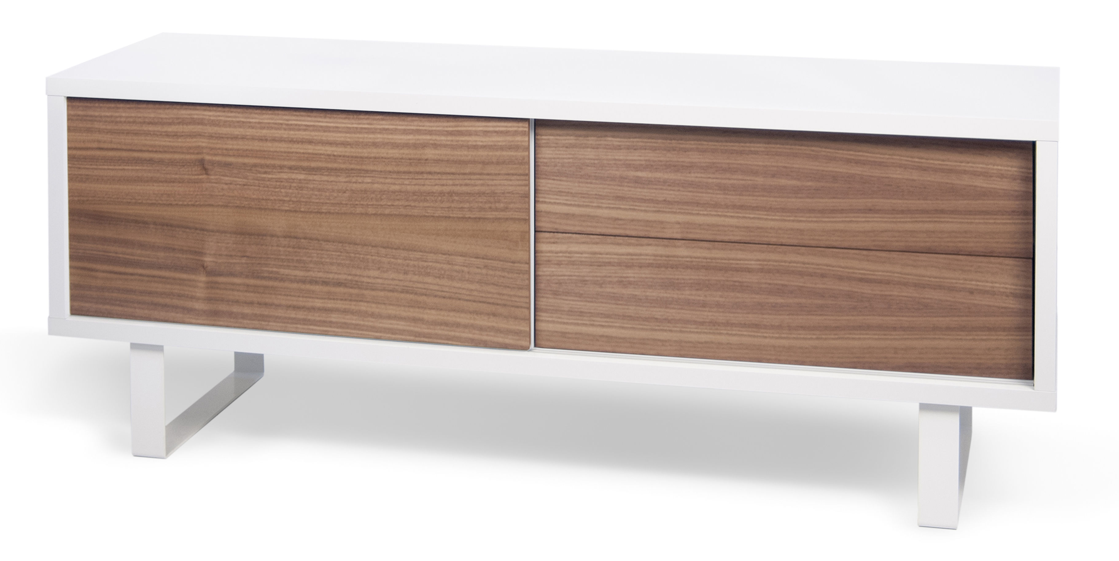 buffet oslo l 150 cm blanc noyer pop up home made in design. Black Bedroom Furniture Sets. Home Design Ideas