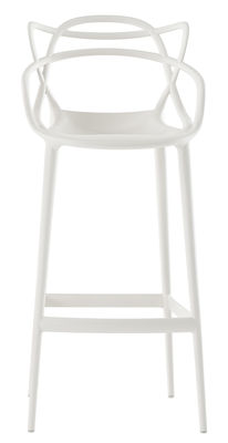 Chaise de bar Masters / H 75 cm - Polypropylène - Kartell blanc en matière plastique
