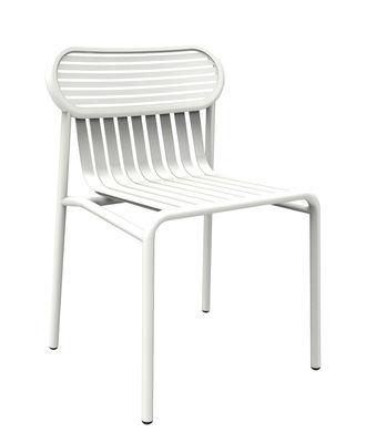 Mobilier - Chaises, fauteuils de salle à manger - Chaise Week-end / Aluminium - Petite Friture - Blanc - Aluminium thermolaqué époxy