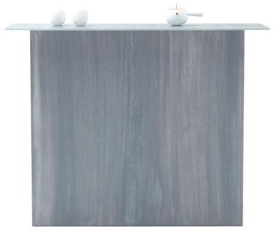 Mobilier - Consoles - Console Brushstroke / L 110 cm - Glas Italia - Nuances de gris - Verre peint