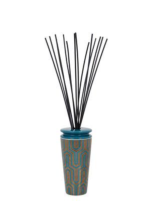 Diffuseur de parfum Ilum / Infusion déco - 500 ml - Max Benjamin bleu,or en verre