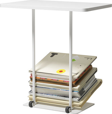 Furniture - Coffee Tables - Magazine table End table - Magazine rack by Design House Stockholm - White - Lacquered MDF, Rubber, Steel