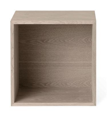 Mobilier - Etagères & bibliothèques - Etagère Stacked 2.0 / Medium carré 43x43 cm / Avec fond - Muuto - Chêne - MDF placage chêne