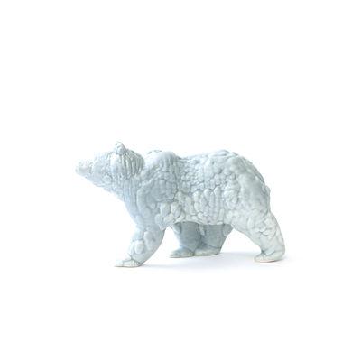 Figurine Orso Small / Céramique modelée 3D - L 18 cm - Moustache gris clair en céramique
