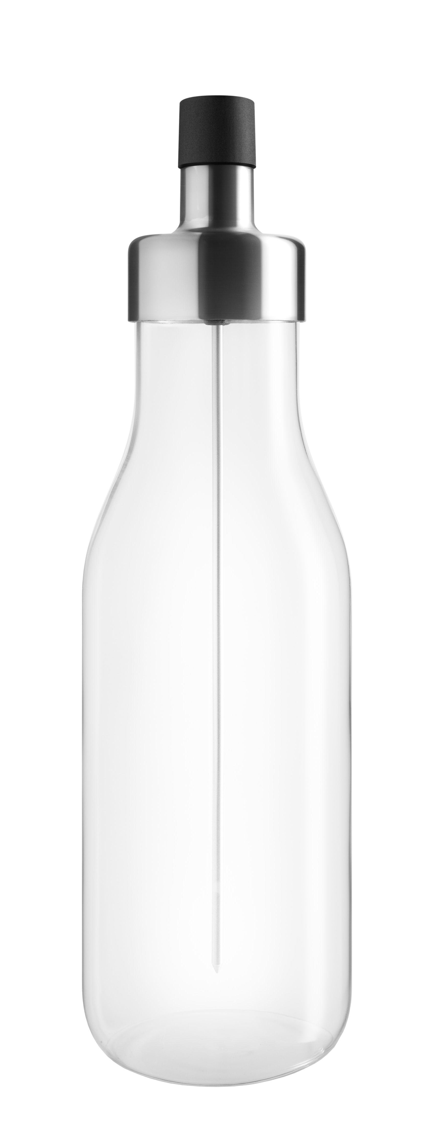 Arts de la table - Huile et vinaigre - Huilier MyFlavour / Stoppe-goutte - Pic à saveurs - Eva Solo - Transparent - Acier inoxydable, Silicone, Verre borosilicaté