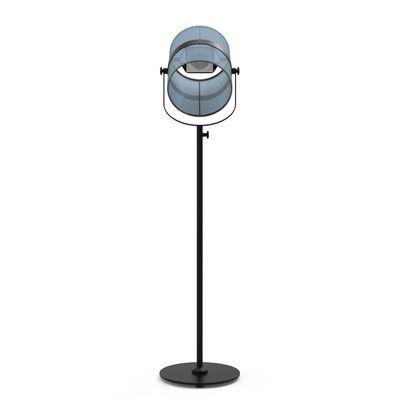 Illuminazione - Lampade da terra - Lampada da terra solare La Lampe Paris LED - / Solare - Senza fili - Maiori - Blu royal / Piede nero - alluminio verniciato, Tessuto