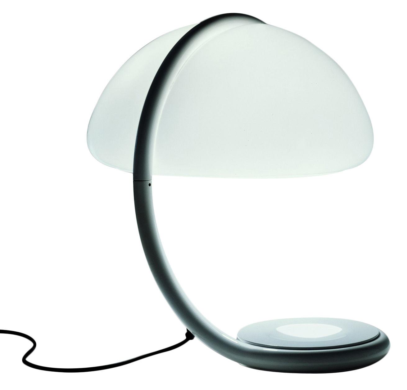 Luminaire - Lampes de table - Lampe de table Serpente - Martinelli Luce - Blanc - Métal laqué, Méthacrylate