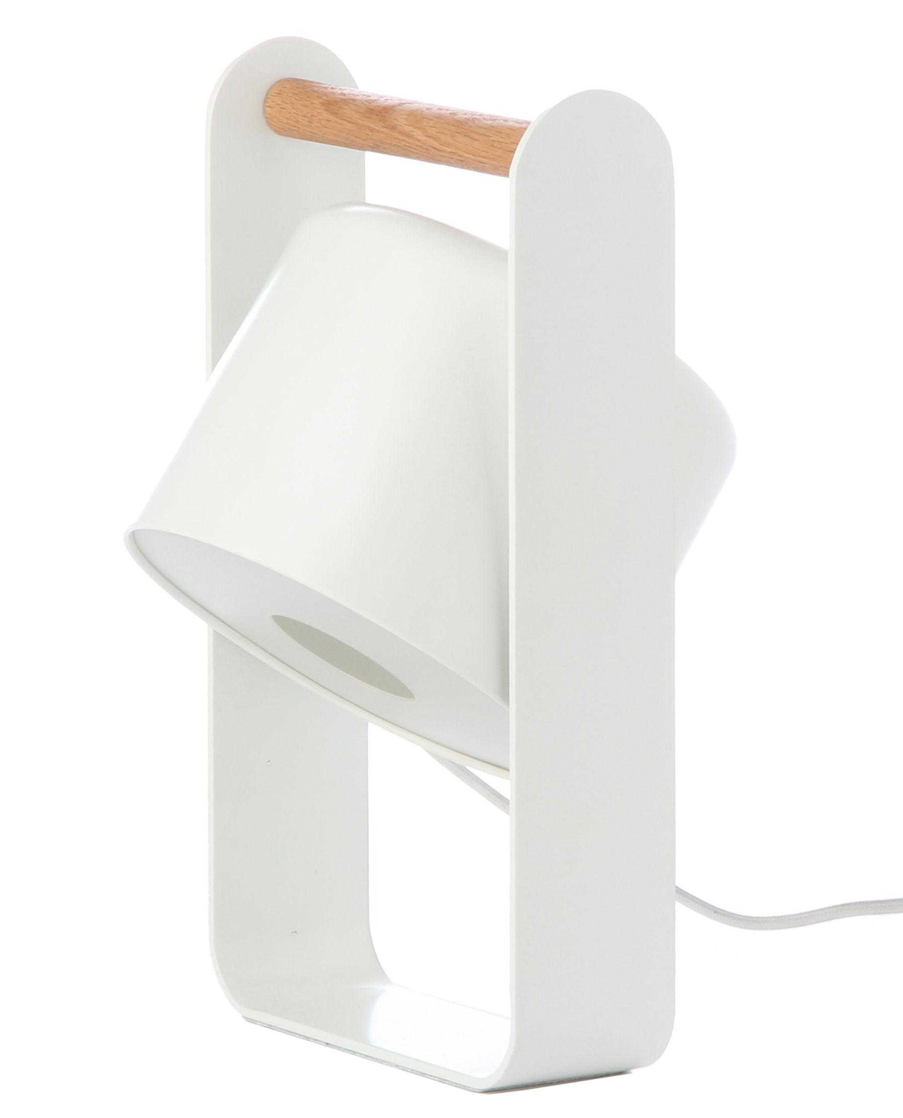 Luminaire - Lampes de table - Lampe de table Sphere / Diffuseur orientable - Frandsen - Blanc mat - Chêne, Métal laqué