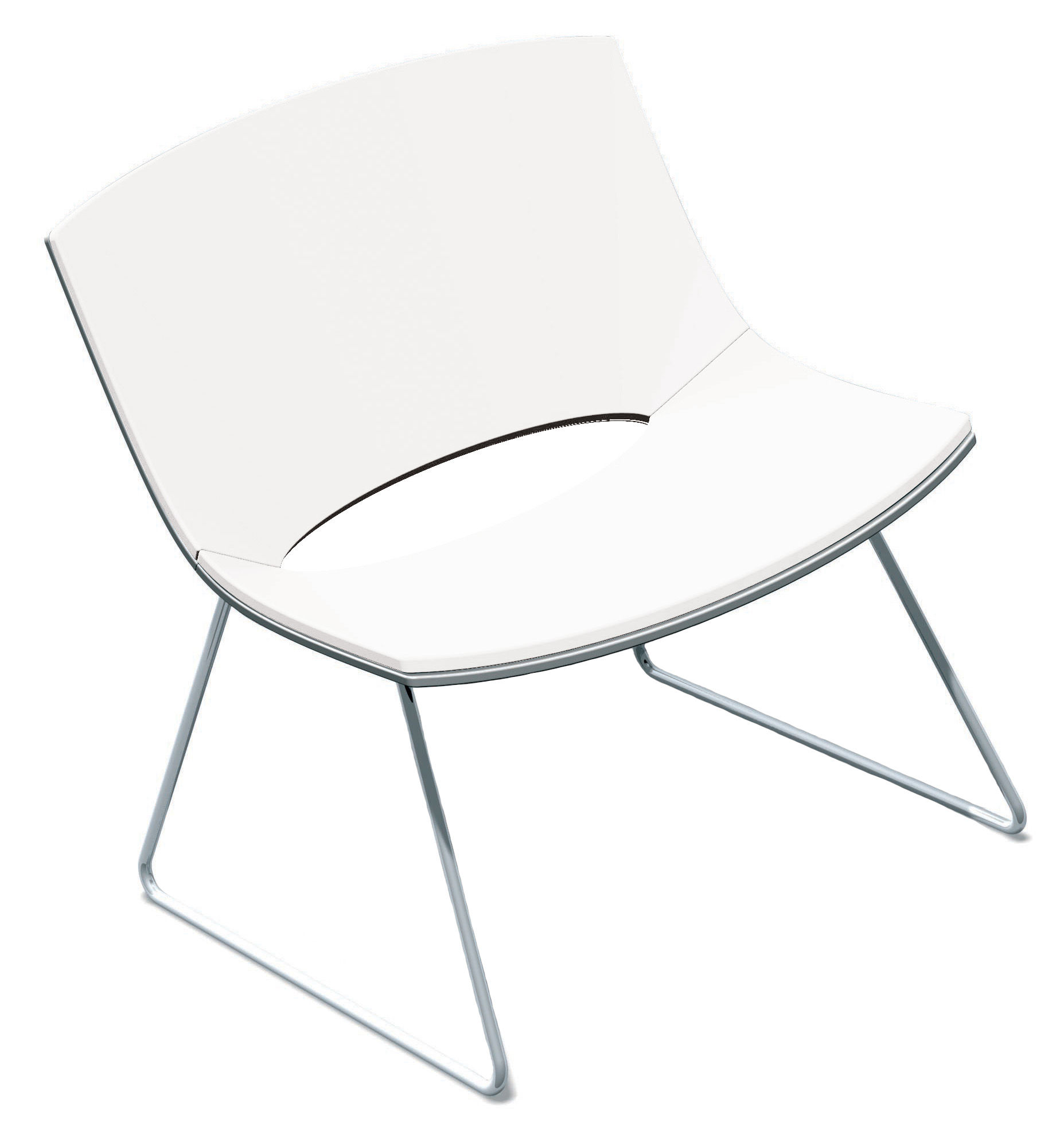 Möbel - Lounge Sessel - Oh! Lounge Sessel Kufengestell - Enea - Weiß - lackierter Stahl, Polypropylen