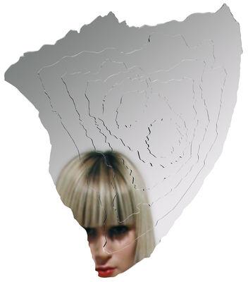 Mobilier - Miroirs - Miroir autocollant Strates / 30 x 35 cm - Domestic - Strates - Matière plastique