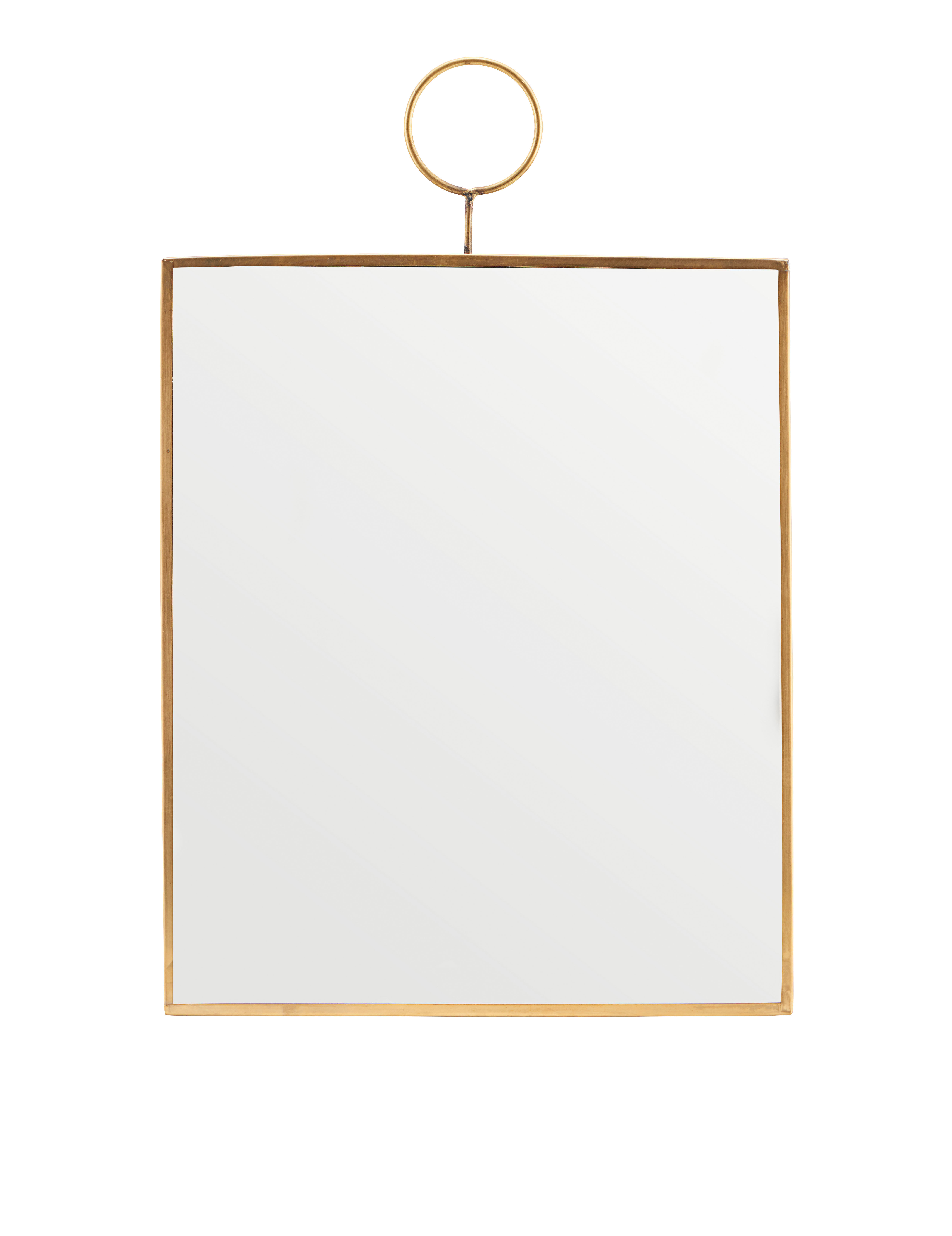 Déco - Miroirs - Miroir mural The Loop / Laiton - 25 x 30 cm - House Doctor - 25 x 30 cm / Laiton - Laiton, Miroir