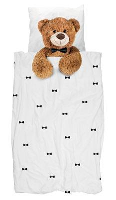 Déco - Pour les enfants - Parure de lit 1 personne Teddy / 140 x 200 cm - Snurk - Ourson - Percale de coton